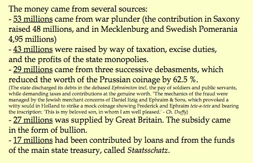 How Frederick the Great paid…
