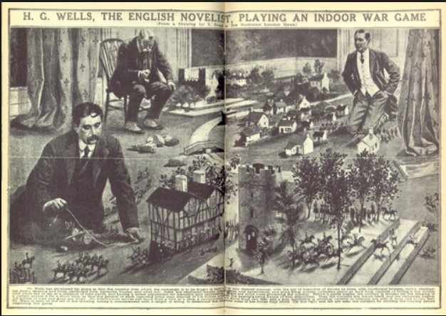 "H.G. Wells playing ""little wars""…"