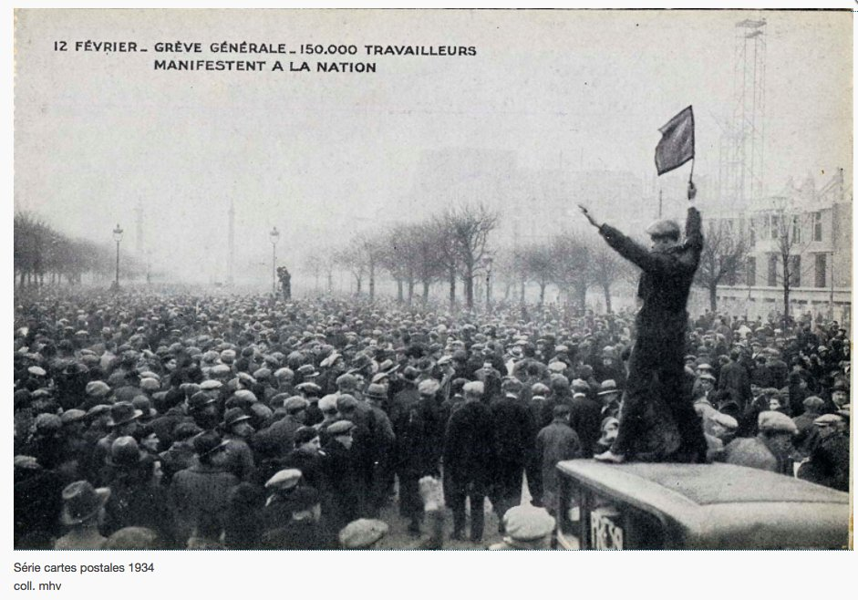 Mass Strike Paris 1934: https://t.co/k7iGXOF7Tm…