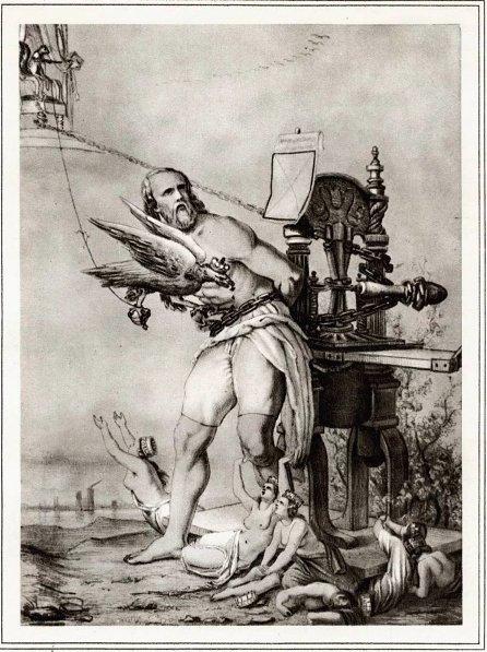 Karl Marx als Prometheus, 1843…