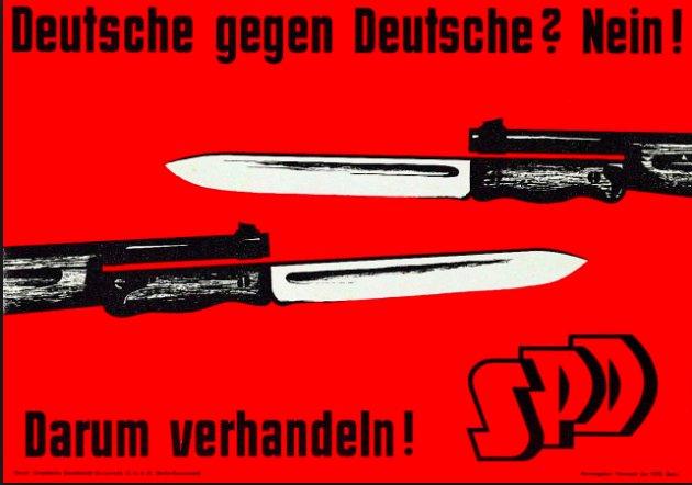 German against German? SPD propaganda…