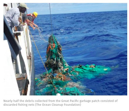 More than half the debris…