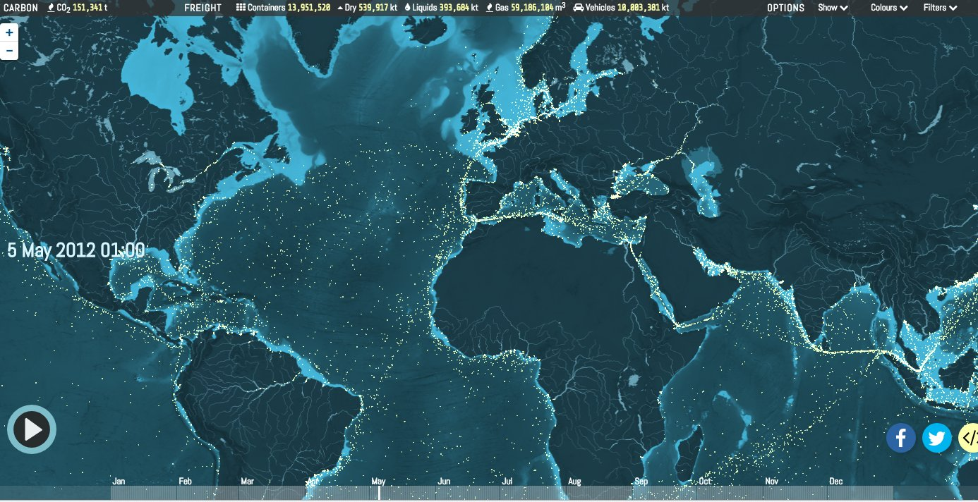 Mesmerizing animated map of global…