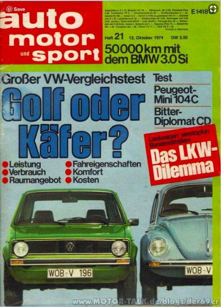 Golf oder Käfer - Golf…