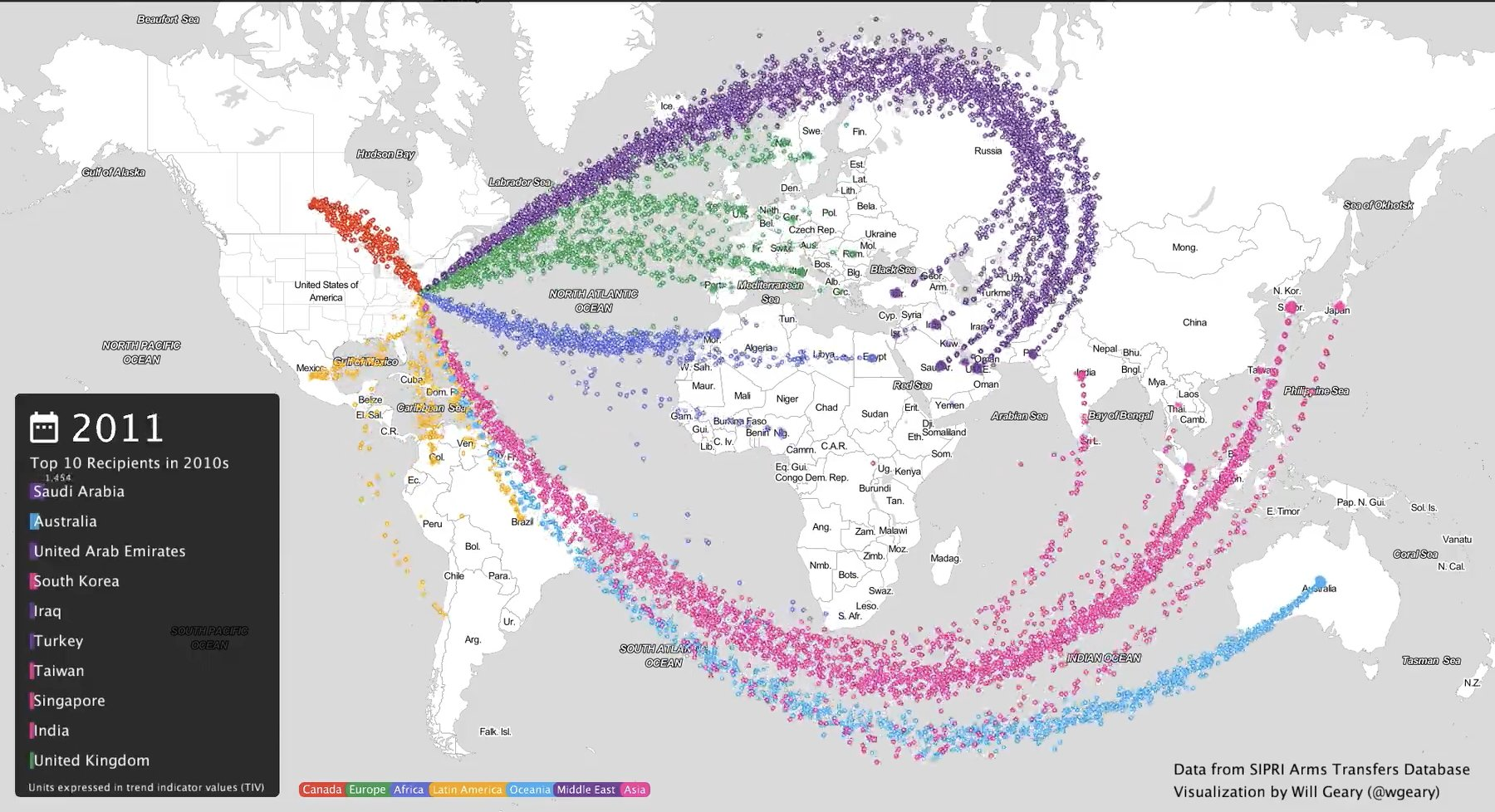 Remarkable visualization of US arms…
