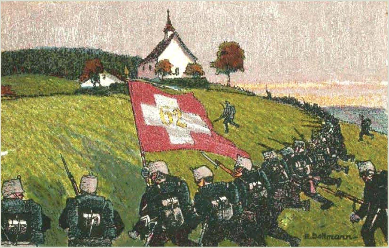 Swiss regimental postcards from WWI…