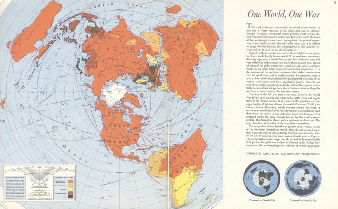 Cartography of globalism: One World…