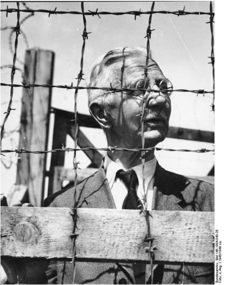 Hjalmar Schacht behind barbed wire…