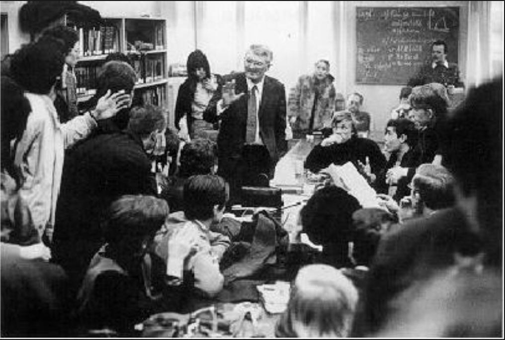 Habermas debating with students in…