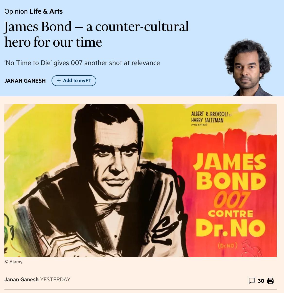 Excellent on Bond as countercultural…