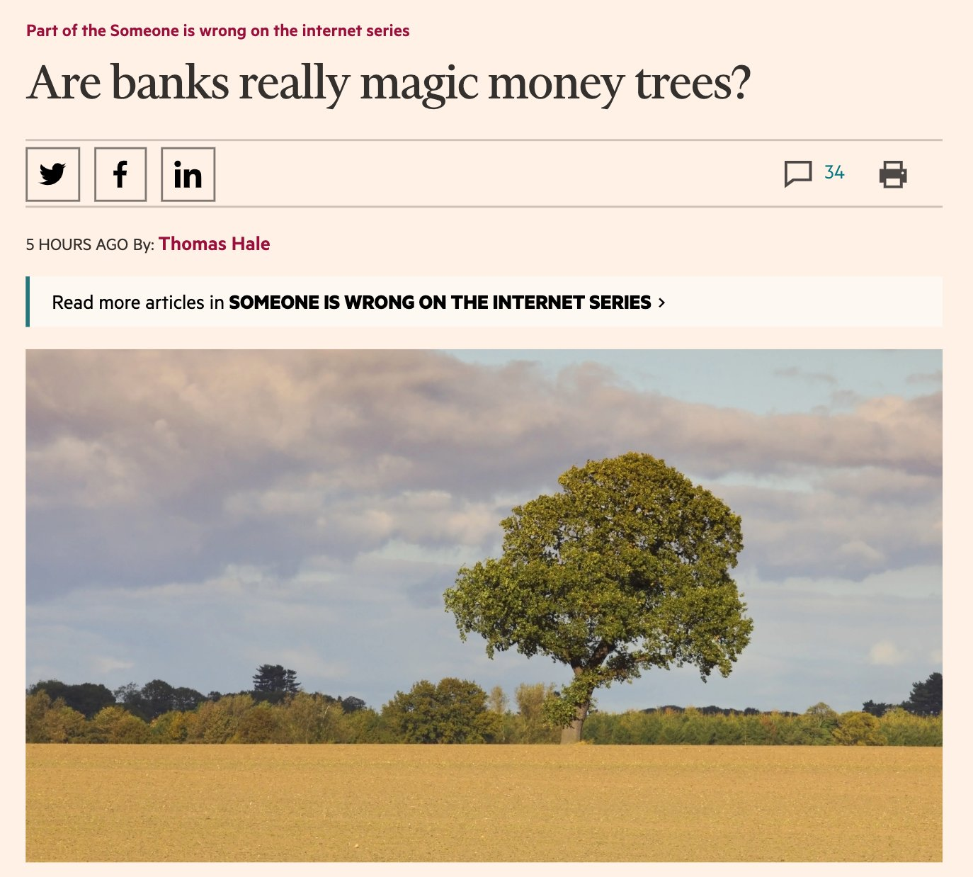 Are banks really magic money…