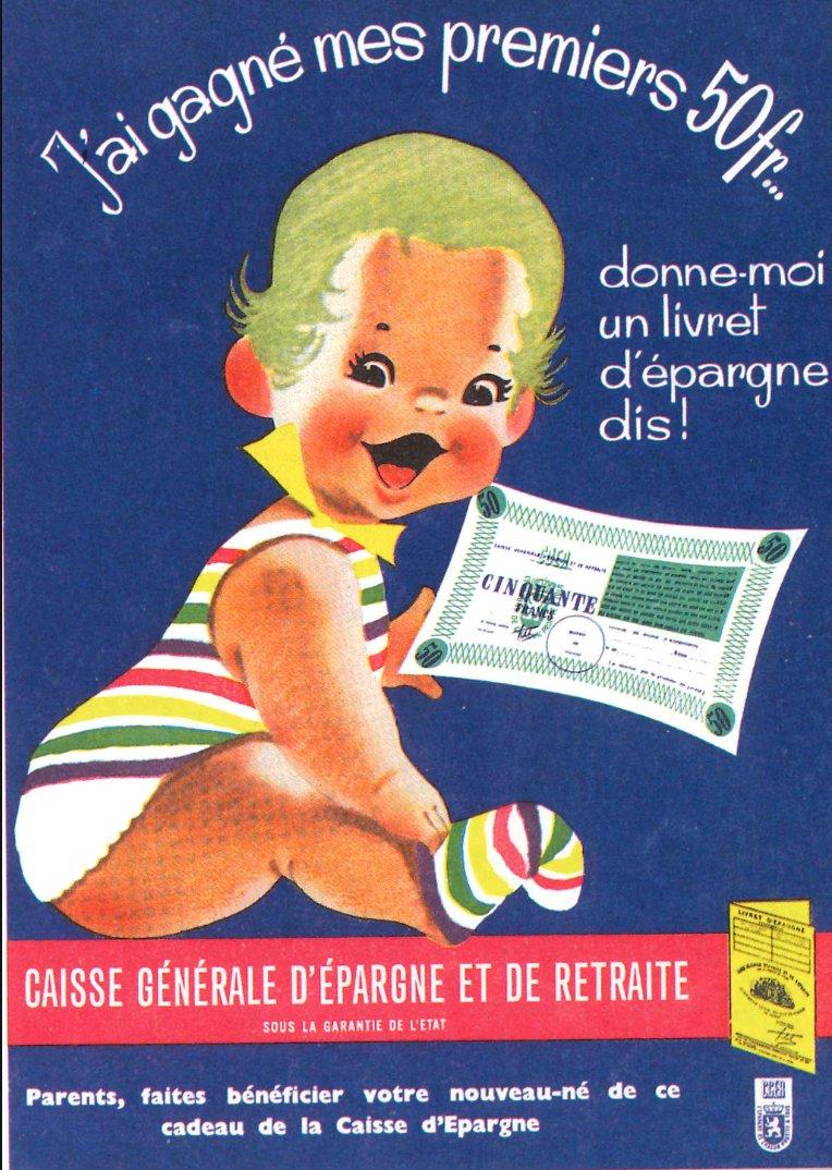 Belgian savings propaganda from mid-century.…