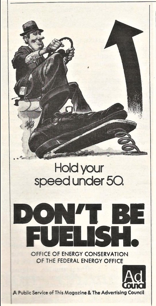 """Dont' be fuelish"" - 1970s…"