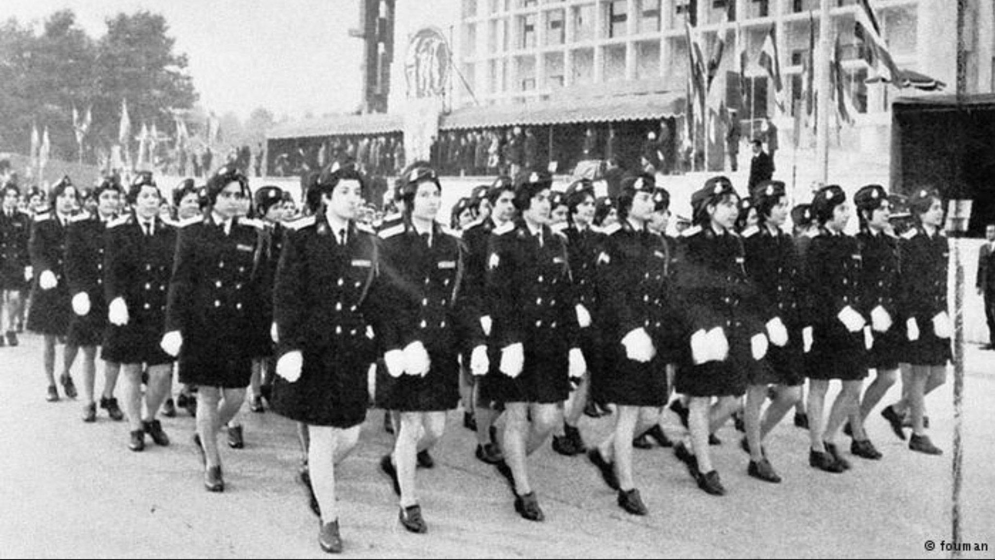 Uniformed women of the Shah's…