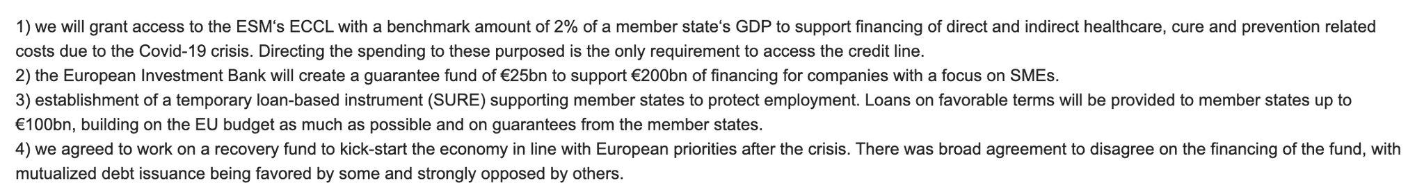 The Eurozone deal in outline.…
