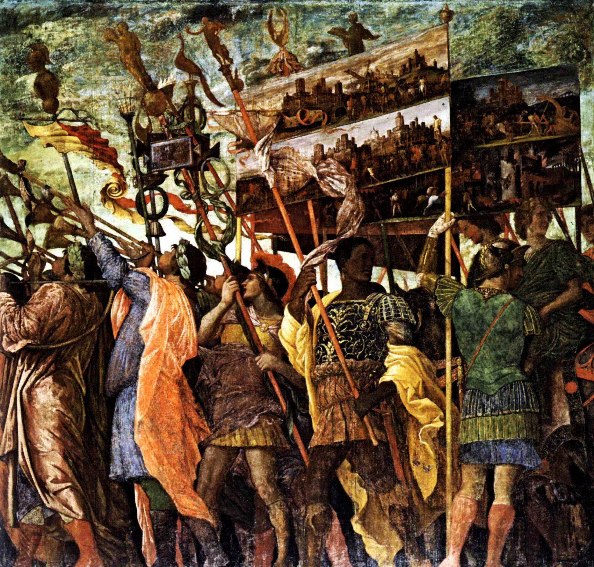 RT @artistmantegna: Trumpeters, 1506 #mantegna…