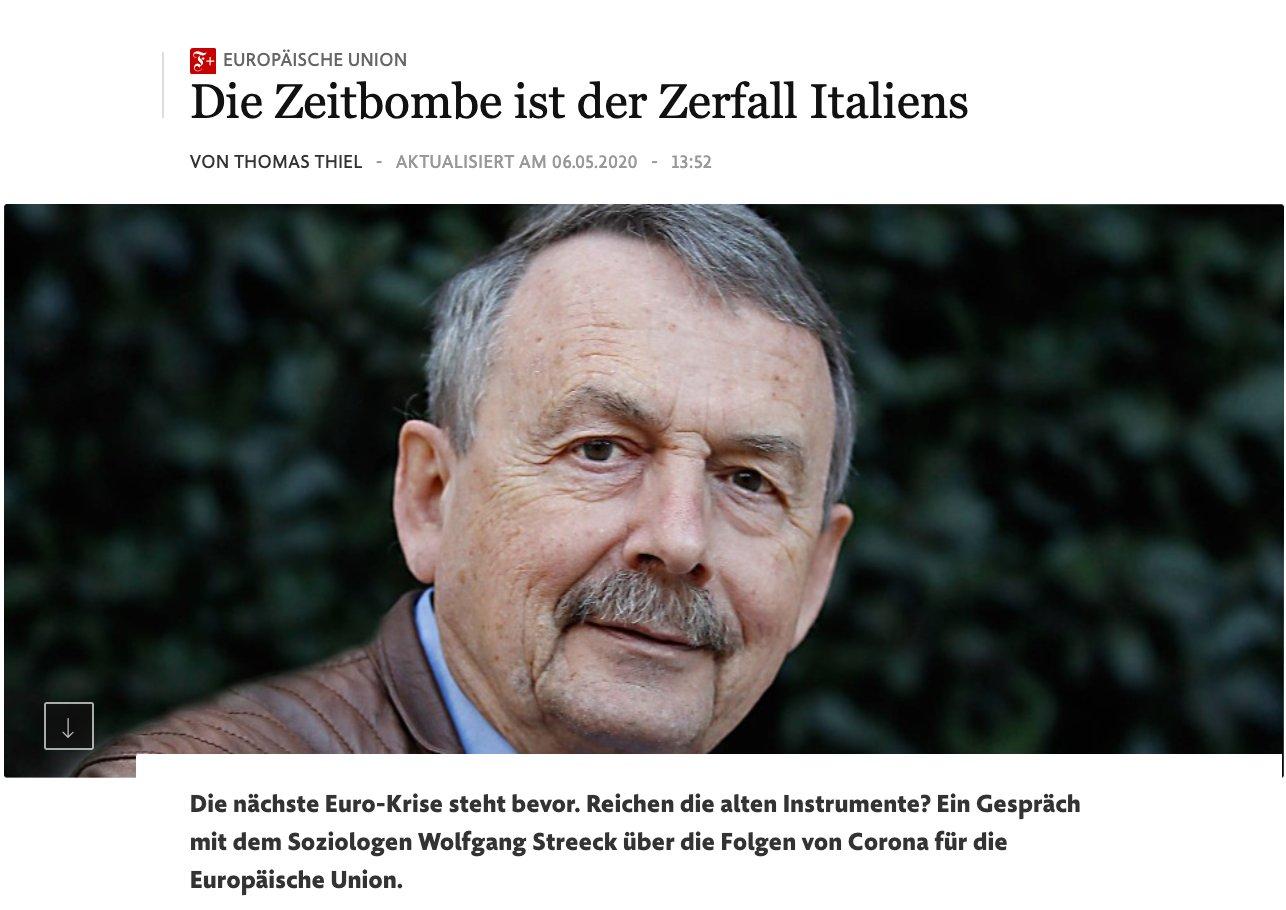 Wolfgang Streeck gave a long…
