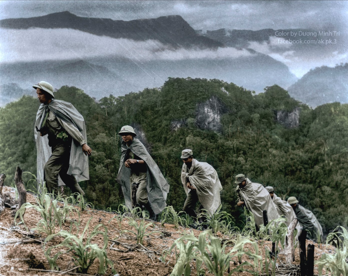 Soldiers cross a slope on…