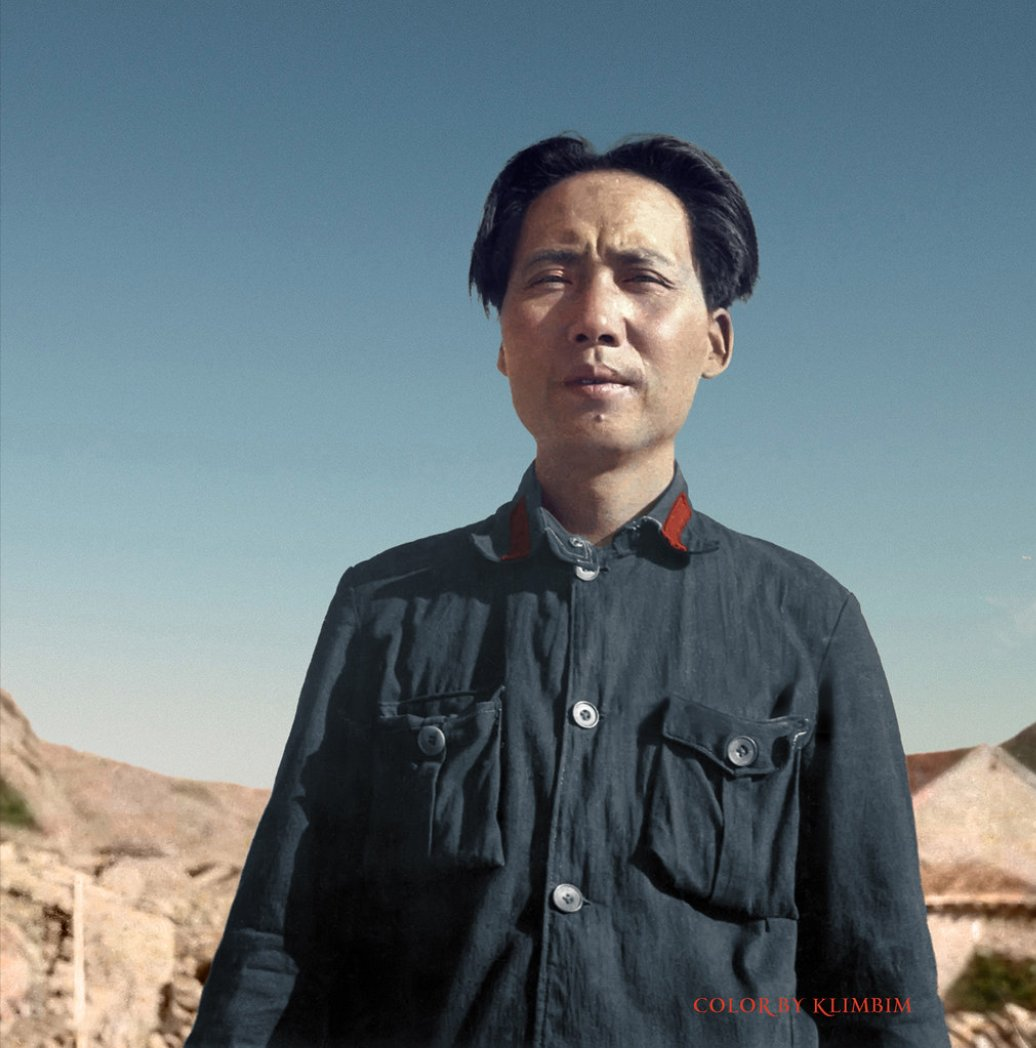 """Mao Zedong, 1937 Color by """"Olga""""…"""