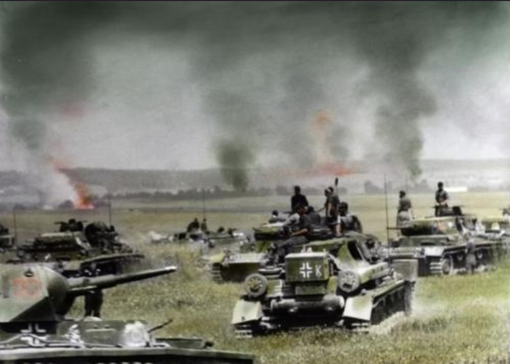 Lightly armored units of Panzegruppe…