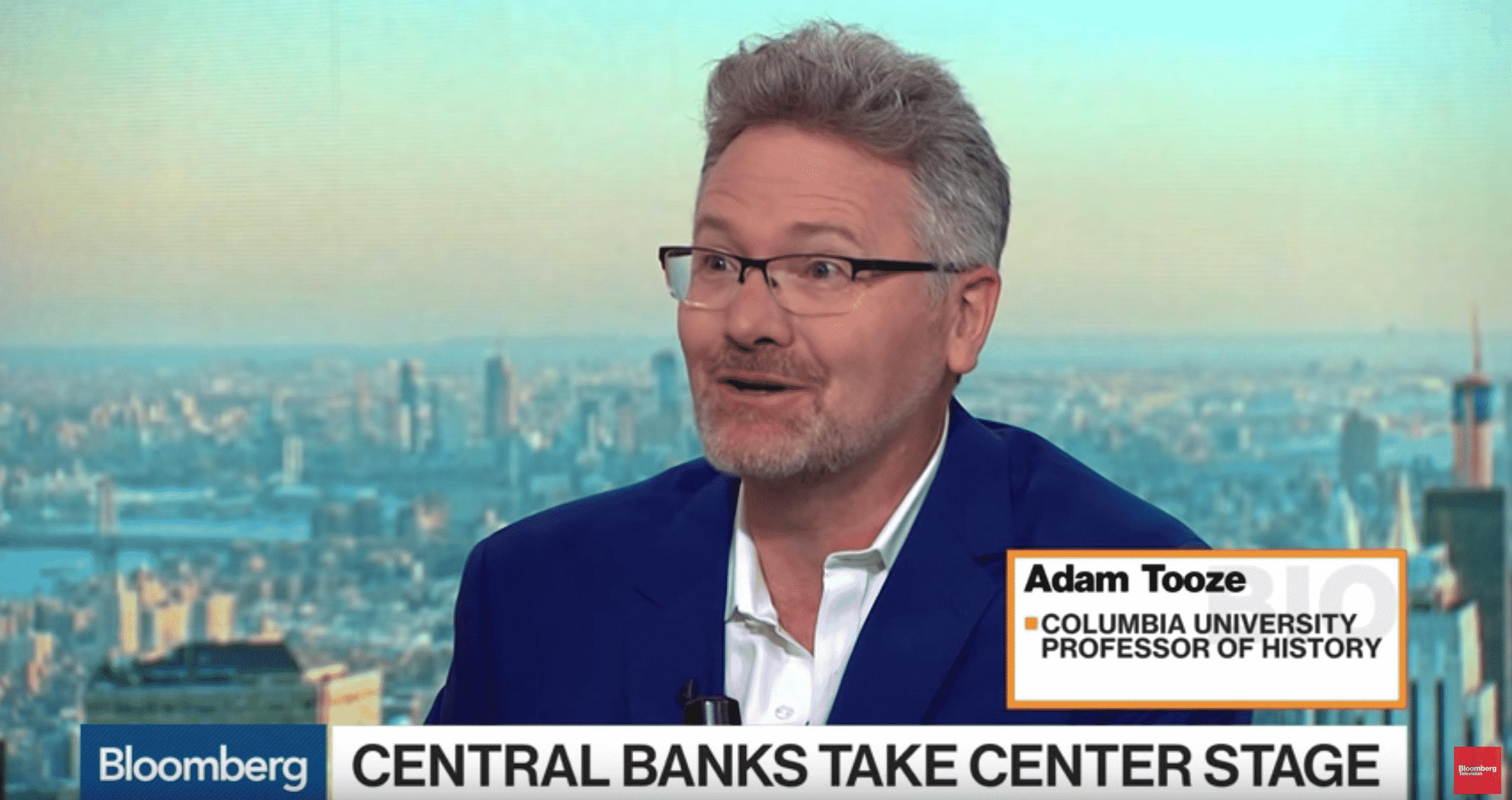 Adam Tooze talking on Bloomberg