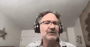 Still photo from video of Adam speaking