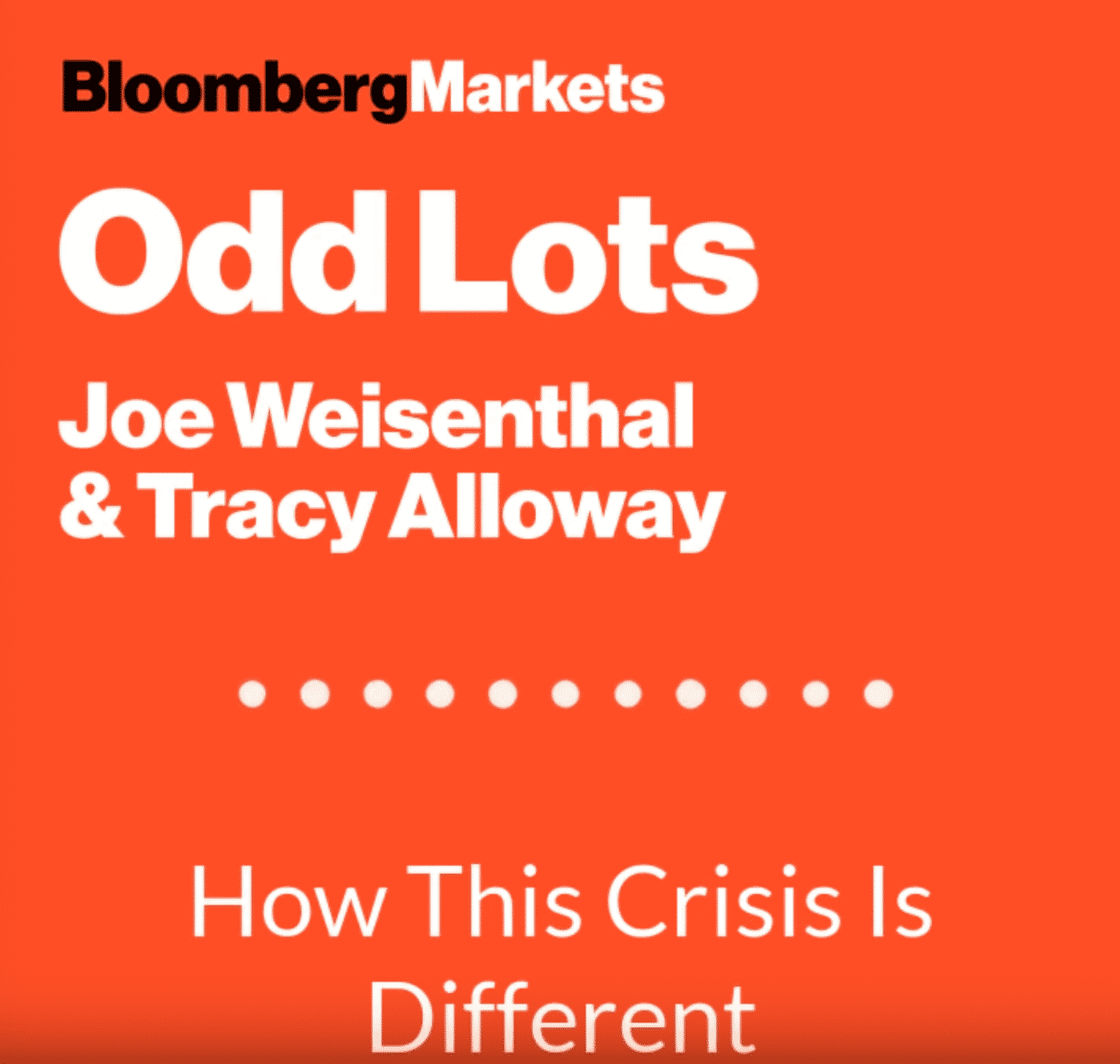 Title page of the Odd Lots Podcast with Bloomberg's Joe Weisenthal and Tracy Alloway