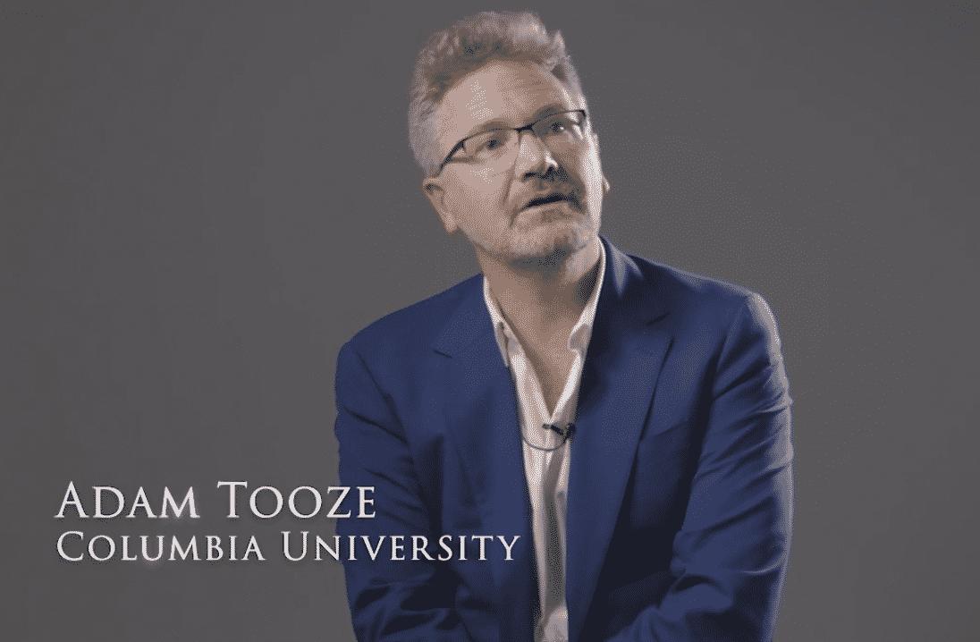 Adam Tooze interviewed on camera