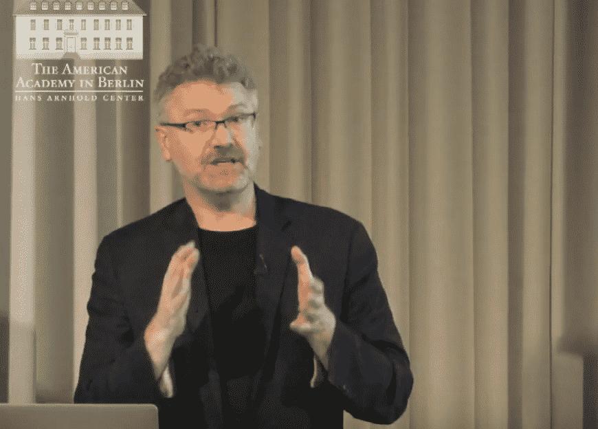 Adam Tooze speaking and gesturing